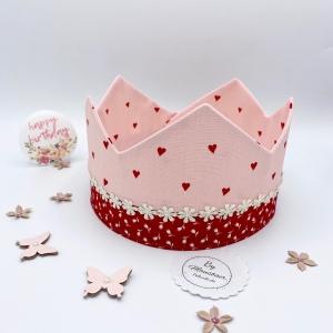 Geburtstagskrone, Krone, Krone für Mädchen, größenverstellbar, von Mausbär - Handarbeit kaufen
