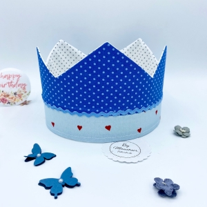 Geburtstagskrone, Krone, Krone für Jungen, größenverstellbar, von Mausbär - Handarbeit kaufen