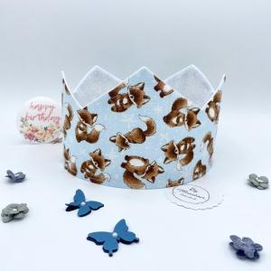Geburtstagskrone, Krone, Krone für Mädchen / Jungen, größenverstellbar, von Mausbär - Handarbeit kaufen