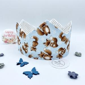 Geburtstagskrone, Krone, Krone für Mädchen und Jungen, größenverstellbar, von Mausbär - Handarbeit kaufen