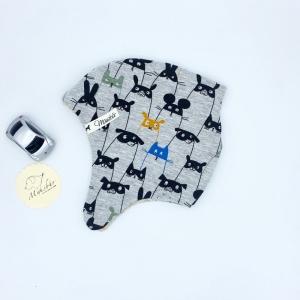 Ohrenmütze, Babymütze, KU 38 - 40 cm, Rebellen , von Mausbär - Handarbeit kaufen