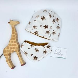 Mütze + Tuch, Neugeborenen Set , KU 39 - 42 cm , von Mausbär - Handarbeit kaufen