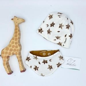 Mütze + Tuch, Neugeborenen Set , KU 34 - 38 cm , von Mausbär - Handarbeit kaufen