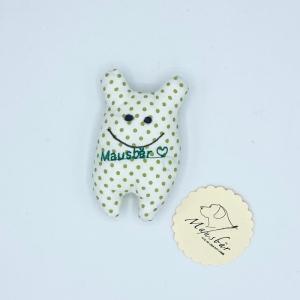 Taschenmausbär, Taschenfreund, Trösterle, kleiner Freund, Pünktchen, von Mausbär - Handarbeit kaufen