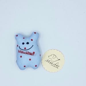 Taschenmausbär, Taschenfreund, Trösterle, kleiner Freund, Wolke, von Mausbär - Handarbeit kaufen