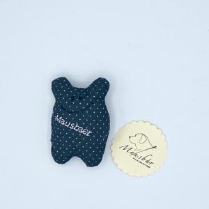 Taschenmausbär, Taschenfreund, Trösterle, kleiner Freund, Graupünktchen, von Mausbär - Handarbeit kaufen