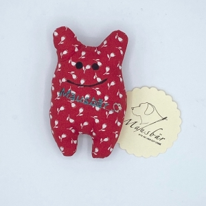 Taschenmausbär, Taschenfreund, Trösterle, kleiner Freund,Blümli,  von Mausbär - Handarbeit kaufen