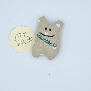 Taschenmausbär, Taschenfreund, Trösterle, kleiner Freund, Herzel, von Mausbär - Handarbeit kaufen