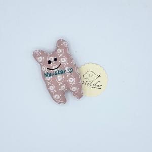 Taschenmausbär, Taschenfreund, Trösterle, kleiner Freund, Rosarot, von Mausbär - Handarbeit kaufen