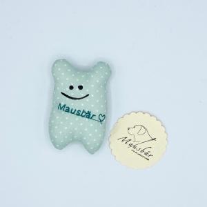 Taschenmausbär, Taschenfreund, Trösterle, kleiner Freund, Minty, von Mausbär - Handarbeit kaufen