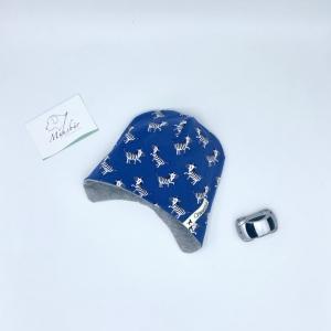 Ohrenmütze, Babymütze, KU 34 - 38 cm, Zebras , von Mausbär - Handarbeit kaufen