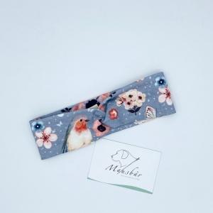 Stirnband, KU  36 - 40 cm, Haarband , Bandeau , Baby-Stirnband, Vögelchen, von Mausbär - Handarbeit kaufen