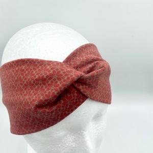 Stirnband, KU 54 - 57 cm, Haarband , Bandeau , Boho-Stirnband, rostfarben, von Mausbär - Handarbeit kaufen