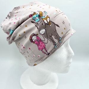 Beanie, Mütze, Wendemütze,doppellagig, 47 - 50cm KU, von Mausbär - Handarbeit kaufen