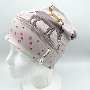 Beanie, KU 50 - 53 cm, Mütze, Wendemütze, doppellagig, von Mausbär - Handarbeit kaufen