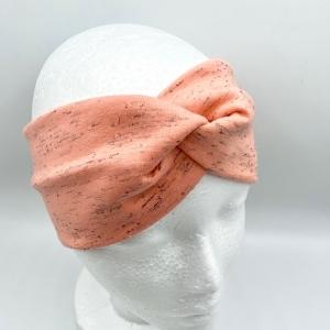 Stirnband, KU  54 - 57 cm, Haarband , Bandeau , Boho-Stirnband, Koralle , von Mausbär - Handarbeit kaufen