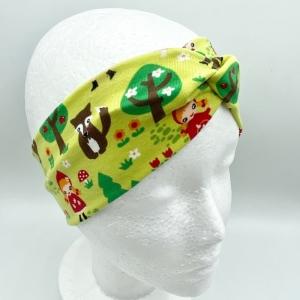 Stirnband, Haarband , Bandeau , Boho-Stirnband  48 - 53 cm, Rotkäppchen, von Mausbär - Handarbeit kaufen
