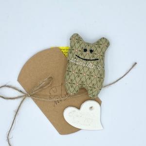 Taschenmausbär, Taschenfreund, Trösterle, kleiner Freund, von Mausbär - Handarbeit kaufen