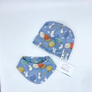 Mütze + Tuch, Mützen Set , KU 39 - 42 cm , Häschen, von Mausbär