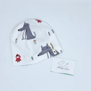 Mütze, KU 39 - 42 cm, Beanie , einlagig, Sommermütze, Rotkäppchen, von Mausbär - Handarbeit kaufen