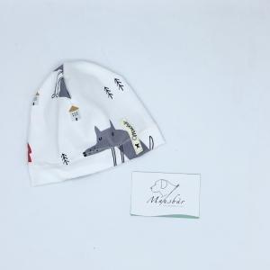 Mütze, KU 34 - 38 cm, Beanie, einlagig, Sommermütze, Rotkäppchen, von Mausbär  - Handarbeit kaufen
