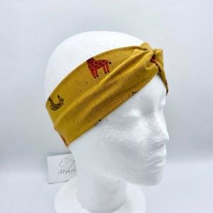 Stirnband, KU 54 - 56 cm, Haarband , Bandeau , Boho-Stirnband, Giraffe, von Mausbär  - Handarbeit kaufen
