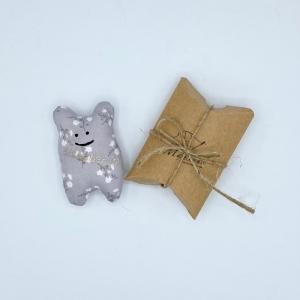 Taschenmausbär, Taschenfreund, Trösterle, kleiner Freund, Grauchen von Mausbär   - Handarbeit kaufen