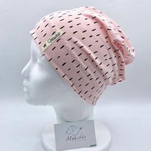 Beanie, KU 50 - 53 cm, Mütze, rosa, von Mausbär    - Handarbeit kaufen