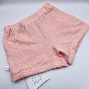 Shorts, Größe 122 / 128,  Shortys, kurze Hose, Kinderhose, Musselin, von Mausbär     - Handarbeit kaufen