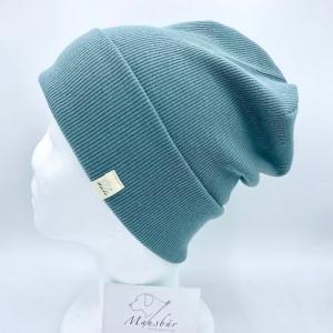 Beanie, KU 49 - 53 cm, Hipster Mütze, Hipster Beanie, salbei, von Mausbär   - Handarbeit kaufen