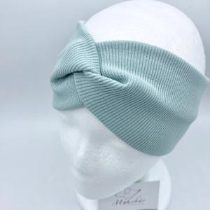 Stirnband, KU 57- 60 cm, Haarband , Bandeau , Boho-Stirnband, mint von Mausbär - Handarbeit kaufen
