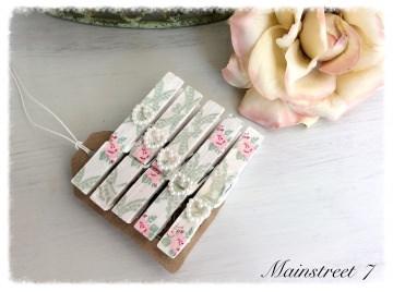 *Svenska Rose* Dekoklammern, Notizklammern, Fotoklammern, Lesezeichen, Geschenkklammern, Hochzeit