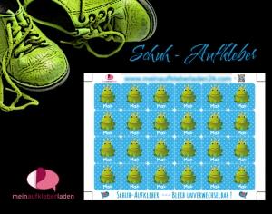 24 Schuhaufkleber | Frosch blau + Schutzfolie - personalisierbar | Namensaufkleber, Schuhetiketten - Handarbeit kaufen