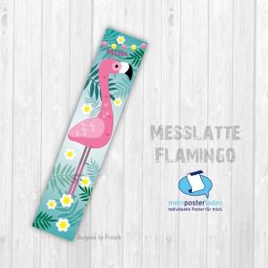 selbstklebende Messlatte | Flamingo | Wandtattoofolie, Kindermesslatte, Messleiste für Kinderzimmer  - Handarbeit kaufen