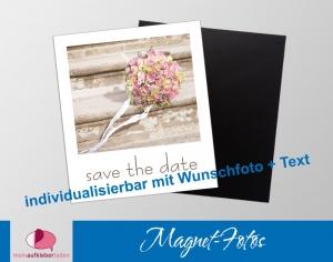 12 Fotomagnete - Polaroid | save the date - personaliserbar mit Foto und Wunschtext - Handarbeit kaufen