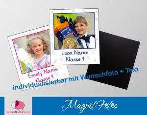 20 Fotomagnete - Polaroid | zur Einschulung - personaliserbar mit Foto und Wunschtext  - Handarbeit kaufen