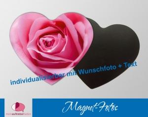 15 Fotomagnete - Herz | Rose - auch personaliserbar mit Foto - Handarbeit kaufen