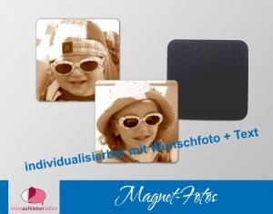 54 Fotomagnete    Kühlschrankmagnete mit Foto personaliserbar  - Handarbeit kaufen