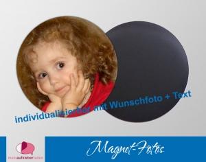 15 runde Fotomagnete | personaliserbar mit eigenem Foto - Handarbeit kaufen