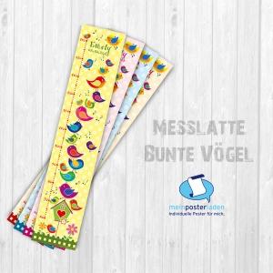 selbstklebende Messlatte | Vögelchen | Wandtattoo Kindermesslatte, Messleiste für Kinderzimmer  - Handarbeit kaufen