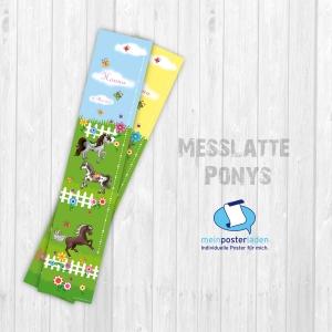 selbstklebende Messlatte | Pferde | Wandtattoo Kindermesslatte, Messleiste für Kinderzimmer   - Handarbeit kaufen