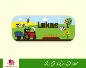 52 Namensaufkleber  | Bauernhof - Traktor | eckig - personalisierbar | Namensetiketten, Schuletiketten   - Handarbeit kaufen