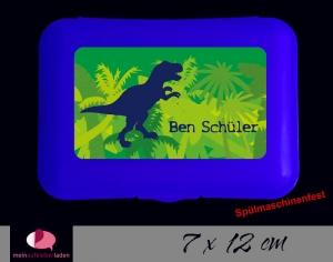 Aufkleber für Brotdosen | T-Rex | personalisierbar | große Namensetiketten, Schuletiketten