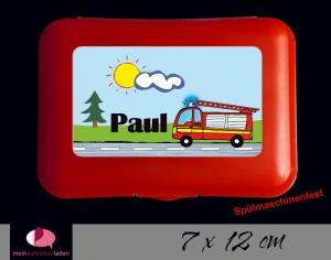 Aufkleber für Brotdosen | Feuerwehr | personalisierbar | große Namensetiketten, Schuletiketten   - Handarbeit kaufen
