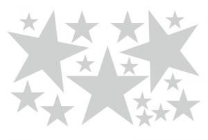 Wandtattoo | Sterne - 16 teilig | Wandaufkleber für Kinderzimmer  - Handarbeit kaufen