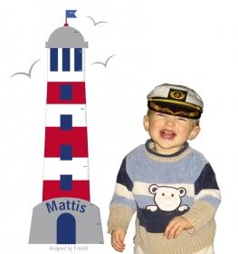 selbstklebende Messlatte | Leuchtturm |  Kindermesslatte, Messleiste für Kinderzimmer
