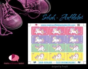 24 Schuhaufkleber   Einhorn + Schutzfolie - personalisierbar   Namensaufkleber, Schuhetiketten