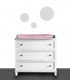 Wandtattoo-Set | Große Kreise - 3 teilig | Wandaufkleber bunte Punkte, Kinderzimmerdeko  - Handarbeit kaufen