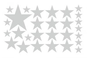 Wandtattoo   Sterne -  28 teilig   Wandaufkleber für Kinderzimmer  - Handarbeit kaufen