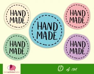 DIY - Aufkleber rund   Handmade - bunt   personalisierbar - Handarbeit kaufen